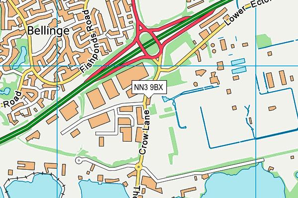 NN3 9BX map - OS VectorMap District (Ordnance Survey)