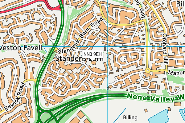 Standens Barn Primary School map (NN3 9EH) - OS VectorMap District (Ordnance Survey)
