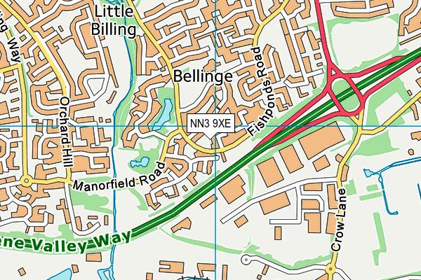 NN3 9XE map - OS VectorMap District (Ordnance Survey)