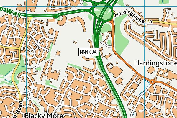 Wootton Park School map (NN4 0JA) - OS VectorMap District (Ordnance Survey)