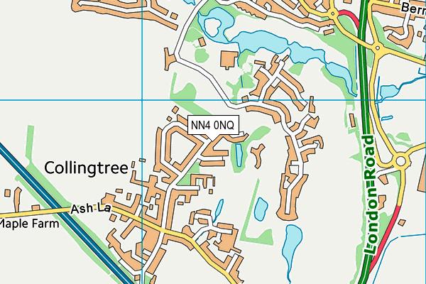 Collingtree Church of England Primary School map (NN4 0NQ) - OS VectorMap District (Ordnance Survey)