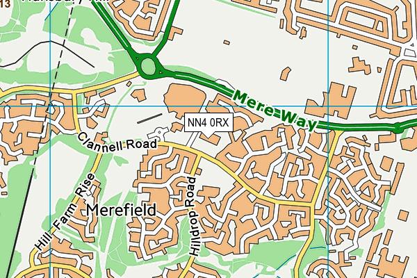 Danes Camp Leisure Centre map (NN4 0RX) - OS VectorMap District (Ordnance Survey)
