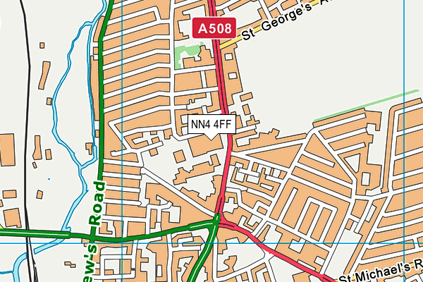 NN4 4FF map - OS VectorMap District (Ordnance Survey)