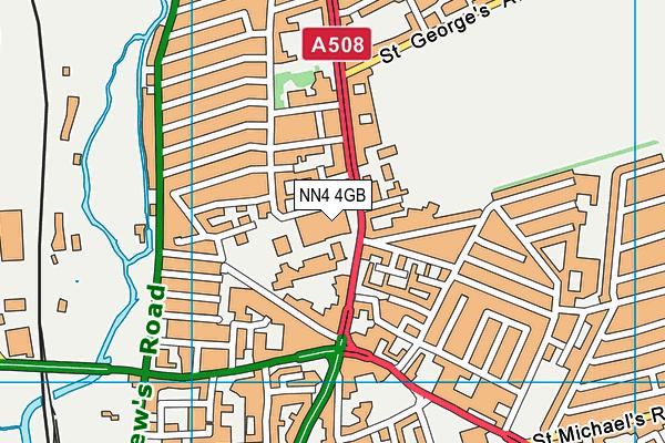 NN4 4GB map - OS VectorMap District (Ordnance Survey)