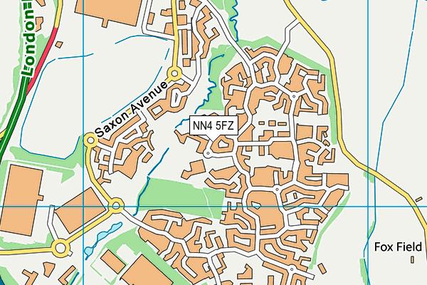 Woodland View Primary School map (NN4 5FZ) - OS VectorMap District (Ordnance Survey)