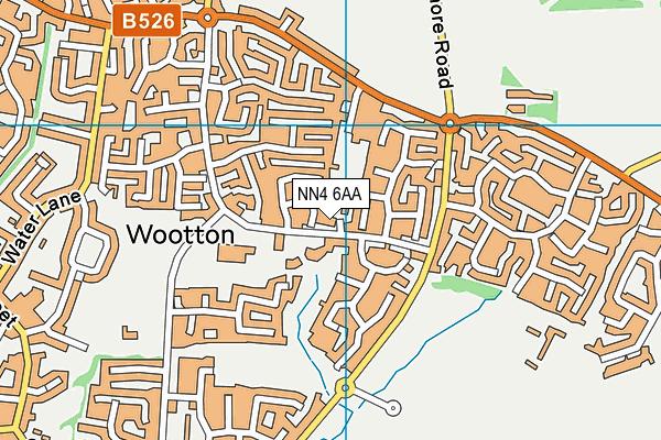 NN4 6AA map - OS VectorMap District (Ordnance Survey)