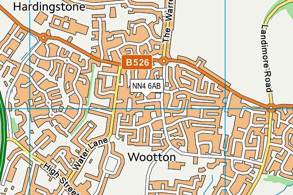 NN4 6AB map - OS VectorMap District (Ordnance Survey)