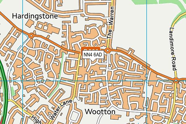 NN4 6AD map - OS VectorMap District (Ordnance Survey)