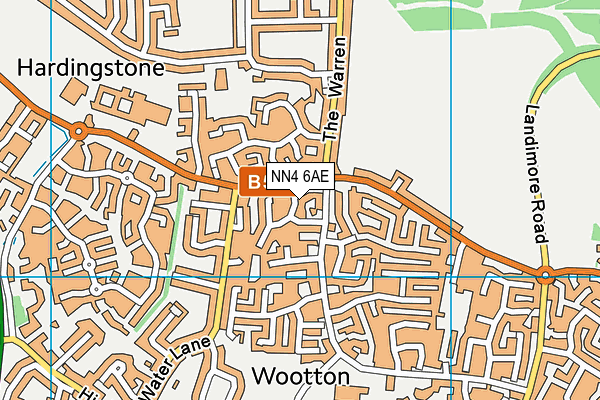 NN4 6AE map - OS VectorMap District (Ordnance Survey)