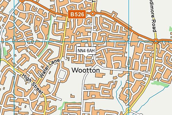 NN4 6AH map - OS VectorMap District (Ordnance Survey)