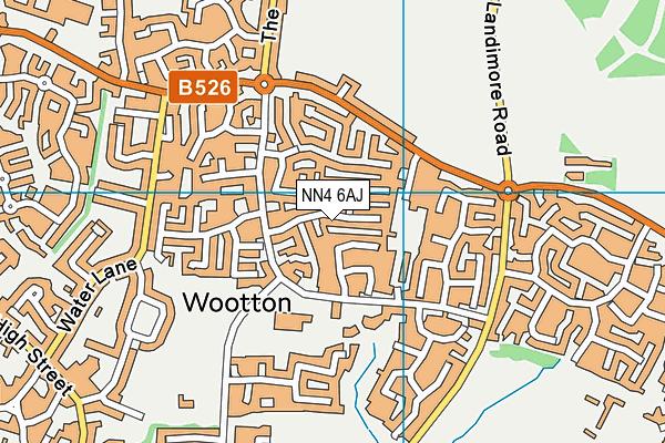 NN4 6AJ map - OS VectorMap District (Ordnance Survey)