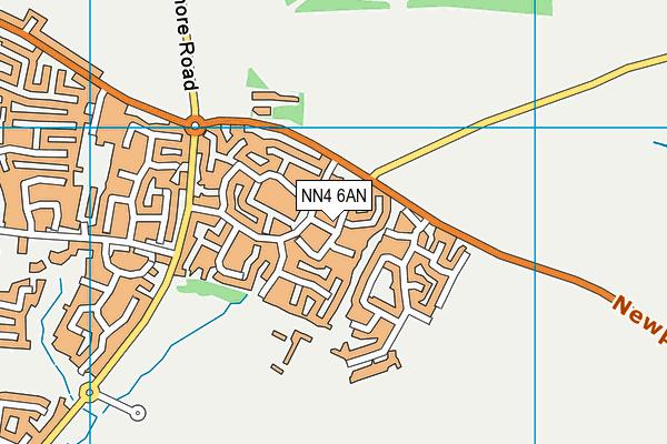 NN4 6AN map - OS VectorMap District (Ordnance Survey)