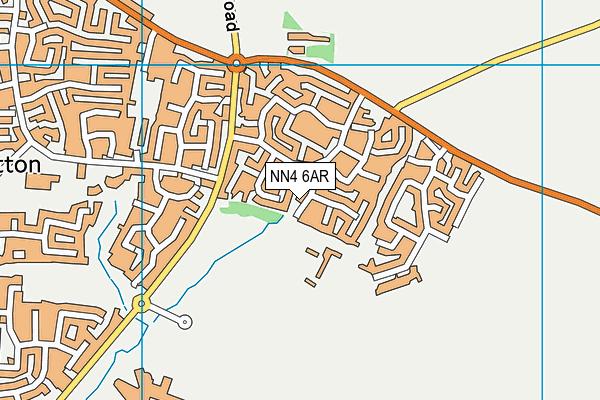 NN4 6AR map - OS VectorMap District (Ordnance Survey)