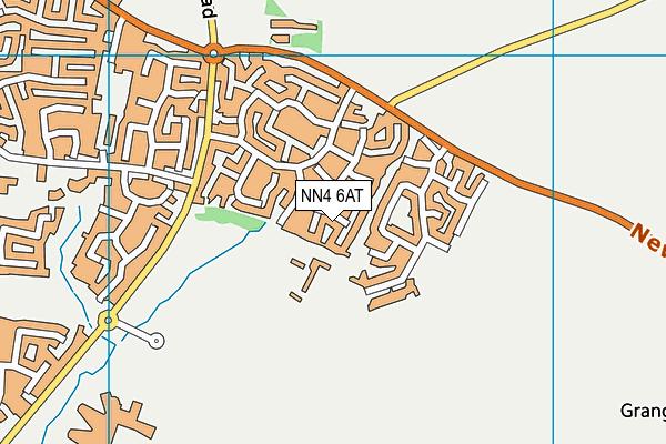 NN4 6AT map - OS VectorMap District (Ordnance Survey)