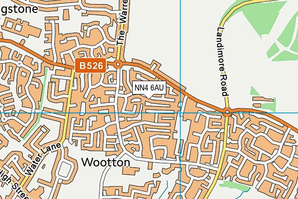 NN4 6AU map - OS VectorMap District (Ordnance Survey)