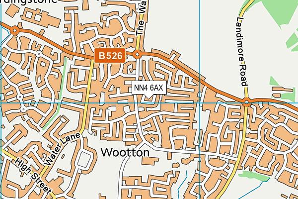 NN4 6AX map - OS VectorMap District (Ordnance Survey)