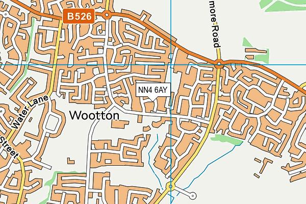 NN4 6AY map - OS VectorMap District (Ordnance Survey)