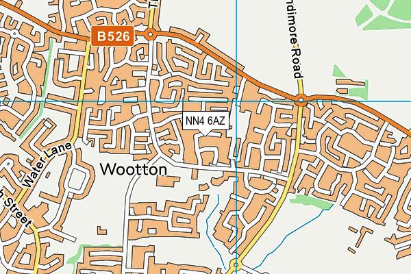 NN4 6AZ map - OS VectorMap District (Ordnance Survey)