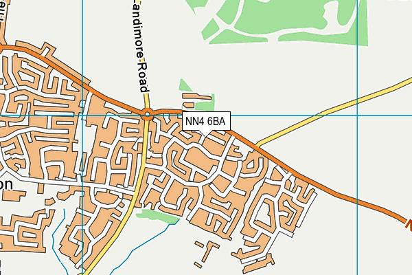 NN4 6BA map - OS VectorMap District (Ordnance Survey)