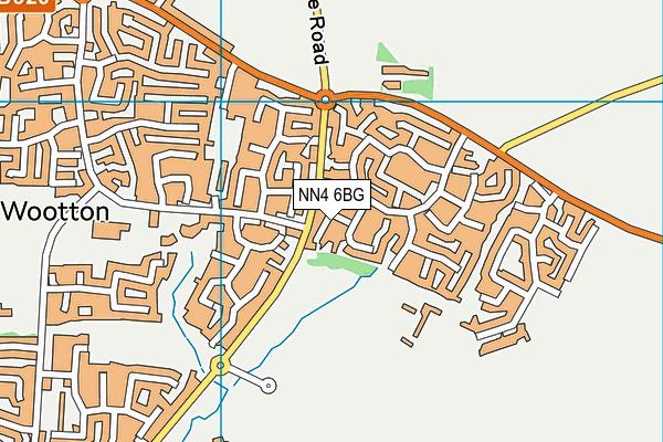 NN4 6BG map - OS VectorMap District (Ordnance Survey)