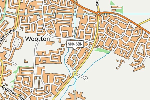 NN4 6BN map - OS VectorMap District (Ordnance Survey)