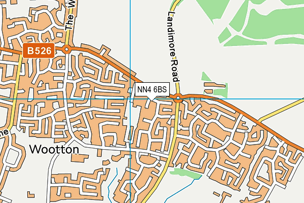 NN4 6BS map - OS VectorMap District (Ordnance Survey)