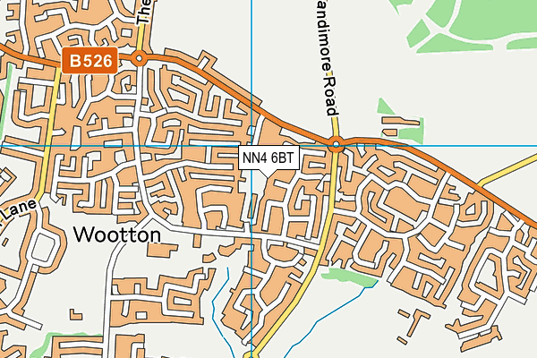 NN4 6BT map - OS VectorMap District (Ordnance Survey)