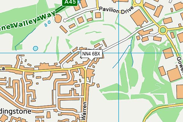 NN4 6BX map - OS VectorMap District (Ordnance Survey)