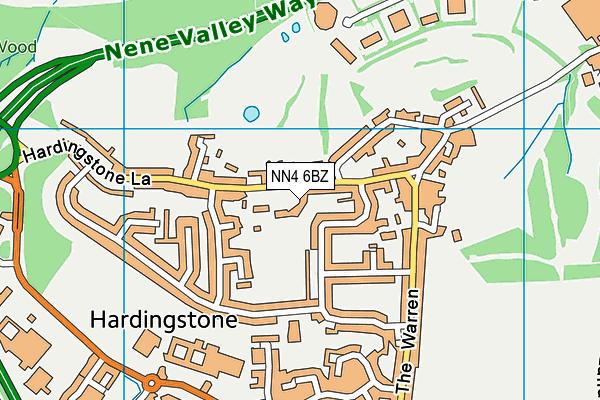 NN4 6BZ map - OS VectorMap District (Ordnance Survey)
