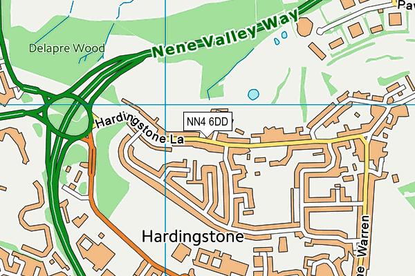 NN4 6DD map - OS VectorMap District (Ordnance Survey)