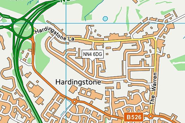 NN4 6DG map - OS VectorMap District (Ordnance Survey)