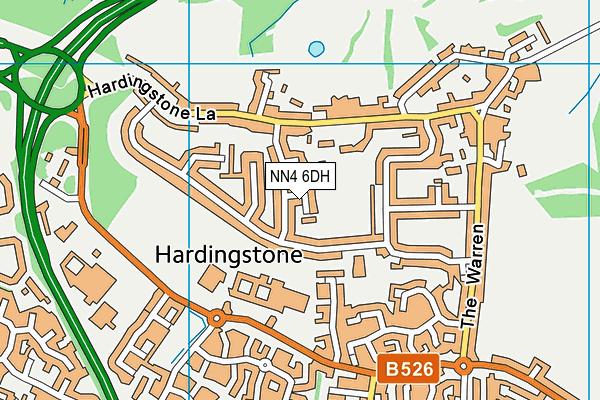 NN4 6DH map - OS VectorMap District (Ordnance Survey)