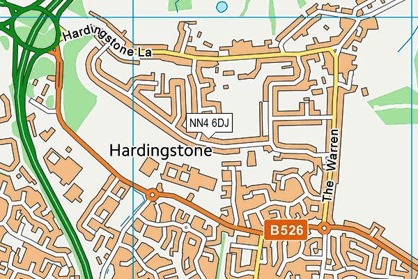 NN4 6DJ map - OS VectorMap District (Ordnance Survey)