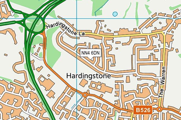 NN4 6DN map - OS VectorMap District (Ordnance Survey)