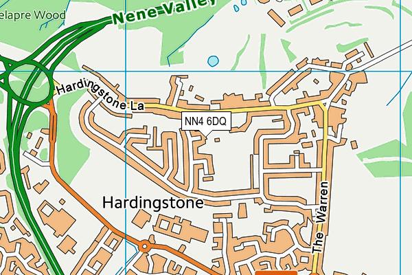 NN4 6DQ map - OS VectorMap District (Ordnance Survey)