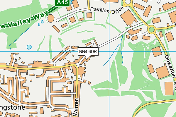 NN4 6DR map - OS VectorMap District (Ordnance Survey)