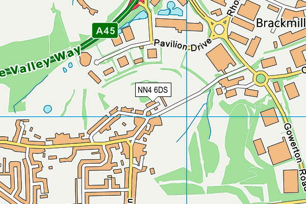 NN4 6DS map - OS VectorMap District (Ordnance Survey)