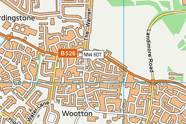 NN4 6DT map - OS VectorMap District (Ordnance Survey)