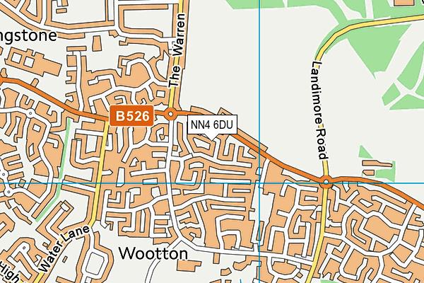NN4 6DU map - OS VectorMap District (Ordnance Survey)