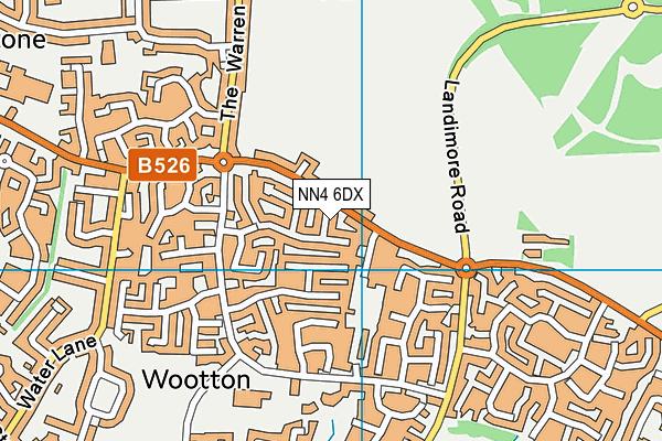 NN4 6DX map - OS VectorMap District (Ordnance Survey)
