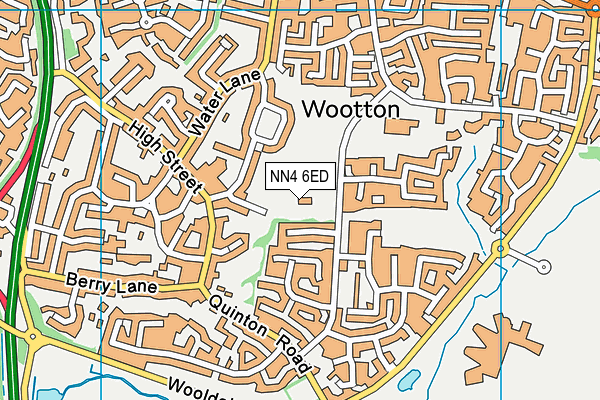 NN4 6ED map - OS VectorMap District (Ordnance Survey)