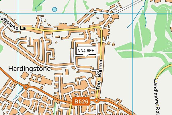 NN4 6EH map - OS VectorMap District (Ordnance Survey)