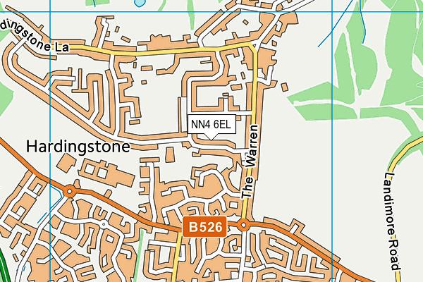 NN4 6EL map - OS VectorMap District (Ordnance Survey)