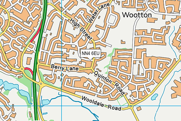 NN4 6EU map - OS VectorMap District (Ordnance Survey)