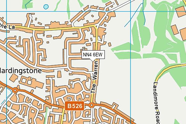 NN4 6EW map - OS VectorMap District (Ordnance Survey)