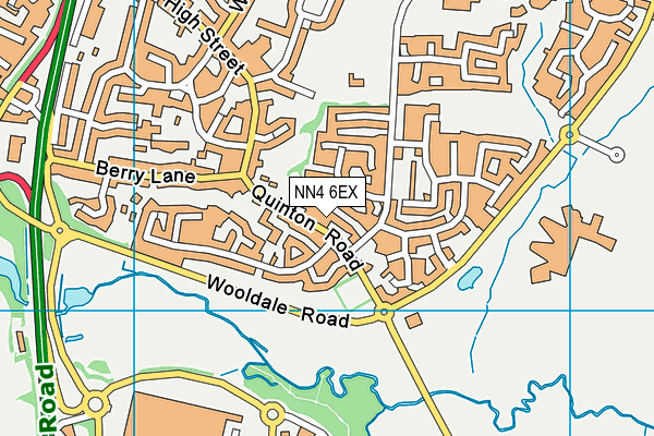 NN4 6EX map - OS VectorMap District (Ordnance Survey)
