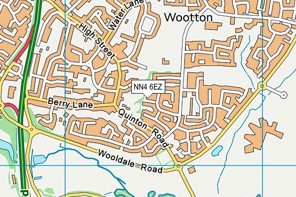 NN4 6EZ map - OS VectorMap District (Ordnance Survey)