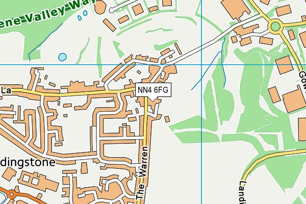 NN4 6FG map - OS VectorMap District (Ordnance Survey)