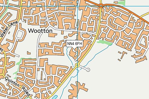NN4 6FH map - OS VectorMap District (Ordnance Survey)