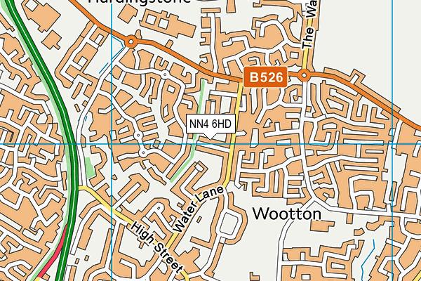NN4 6HD map - OS VectorMap District (Ordnance Survey)